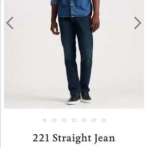 Lucky brand jeans 221 straight 36x34
